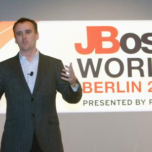 Marc Fleury @ JBoss World Berlin vers. RedHat | © franknuernberger.de
