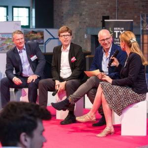 Paneldiskussion mit Philipp Bouteiller bei 8. Standortkonferenz | Nachnutzung Flughafen TXL | © Gerhard Kassner